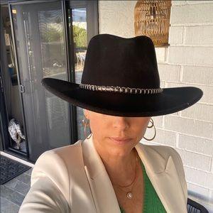 Stetson   Santa Fe Crushable Wool Hat Black Large